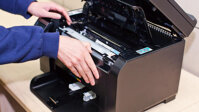Review máy in laser màu có scan, fax HP LaserJet Pro MFP M177fw