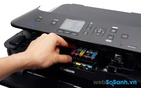 Review máy in phun đa năng Canon Pixma MG5450 - Chi phí in màu tốt