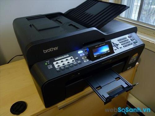 Review máy in phun đa năng scan, fax cỡ giấy lớn Brother MFC J6510DW