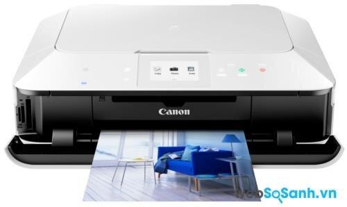 Review máy in phun màu có photo, scan Canon Pixma MG6370