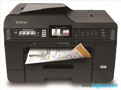 Review máy in phun màu đa năng cỡ giấy lớn Brother MFC  J6710dw