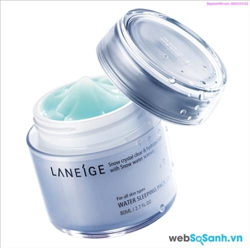 Review mỹ phẩm mặt nạ ngủ của Laneige -Water Sleeping Pack EX