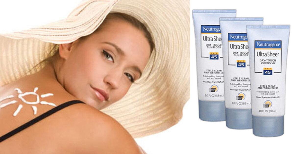 Review Neutrogena Ultra Sheer Dry-Touch Sunscreen SPF 45 – Kem chống nắng tốt cho da dầu và da hỗn hợp