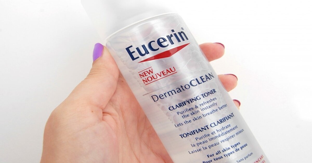 Review nước hoa hồng cho da nhạy cảm Eucerin DermatoClean Clarifying Toner