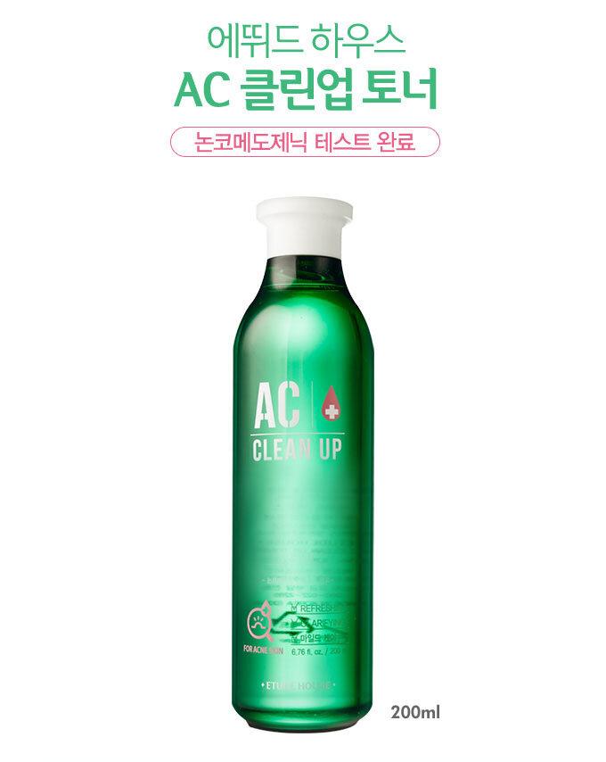 Review nước hoa hồng trị mụn  Etude House AC Clean Up Toner