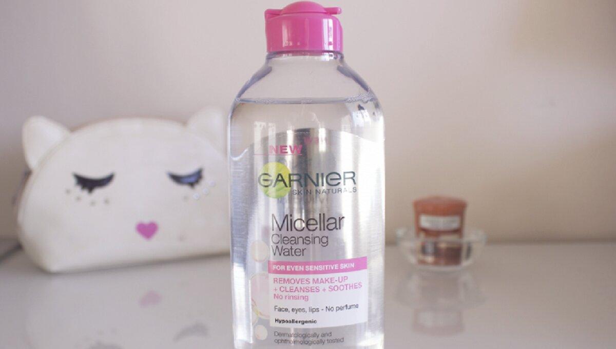 Review nước tẩy trang hồng Garnier Skin Naturals Micellar Cleansing Water