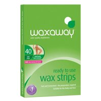 Review sáp tẩy lông Waxaway Ready to Use Wax Strips