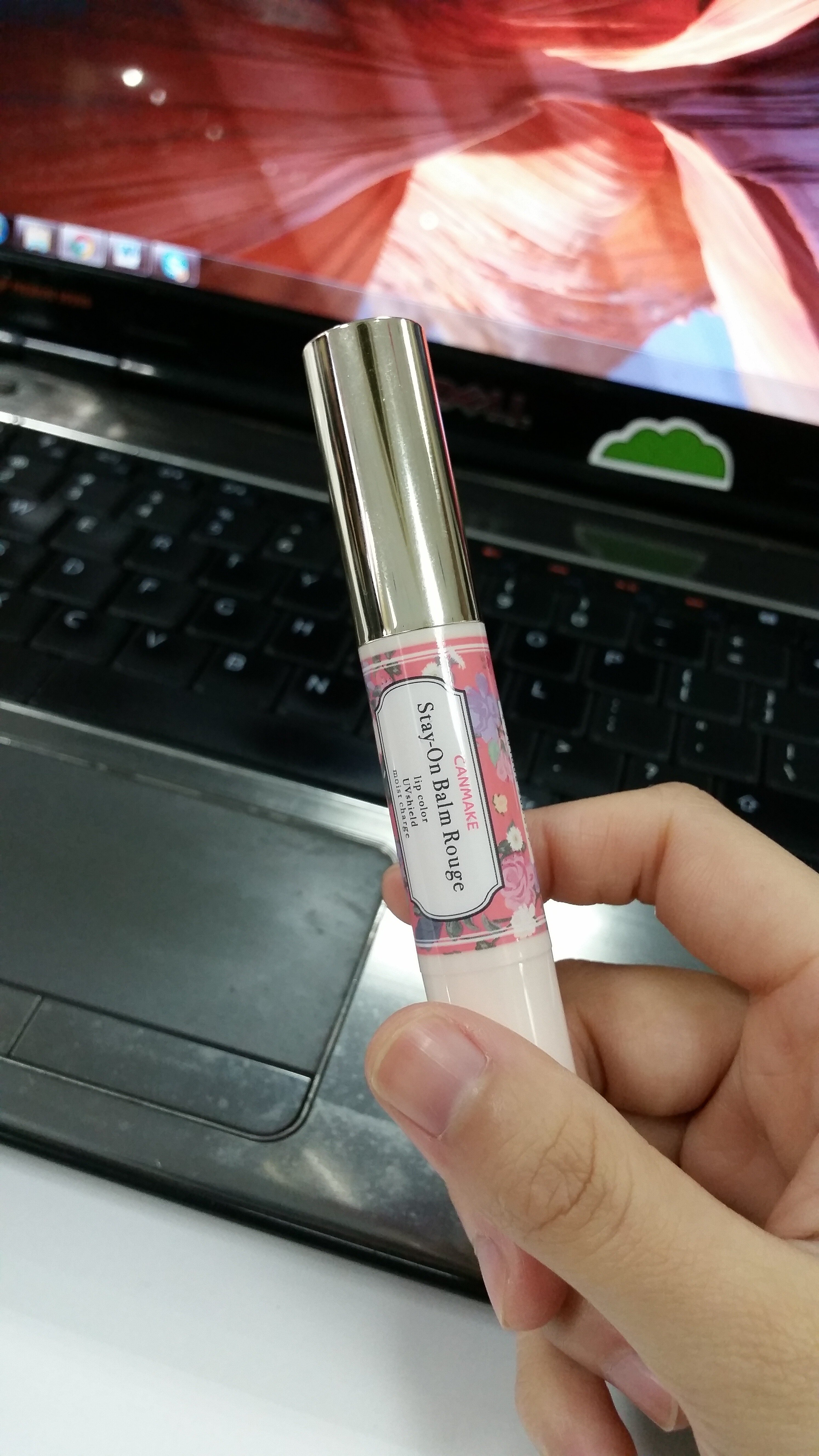 Review son dưỡng môi Canmake Stay on Balm Rouge