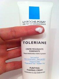 Review sữa rửa mặt dạng bọt La Roche Posay Toleriane Purifying Foaming Cream