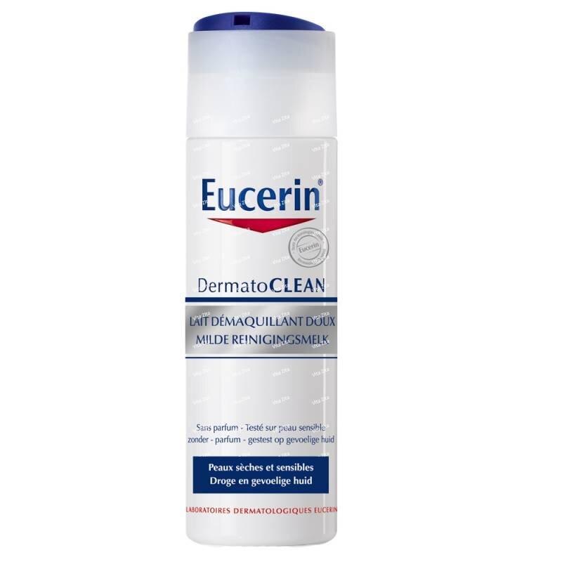 Review sữa rửa mặt tẩy trang dịu nhẹ Eucerin Dermatoclean Mild Cleansing Milk