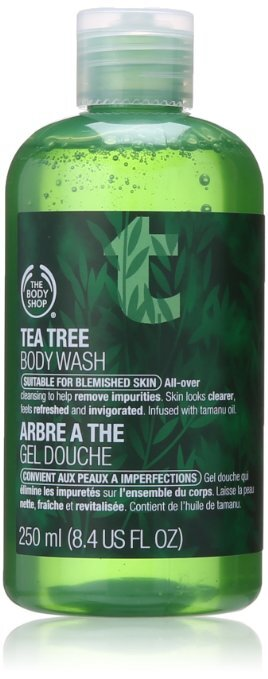 Review sữa tắm trị mụn The body shop tea tree body wash
