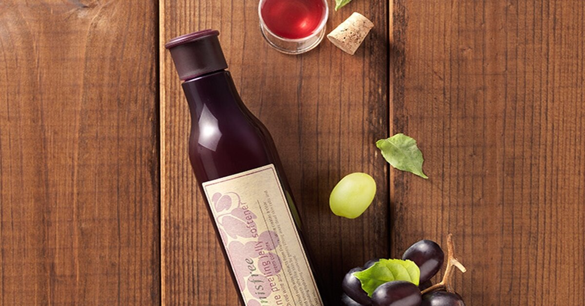 Review tẩy tế bào chết rượu vang Innisfree Wine Peeling Jelly Softener