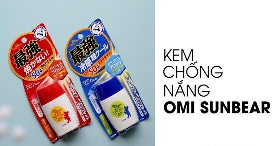 Review về kem chống nắng Omi Sun Bear của Nhật Bản