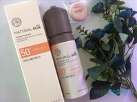 Review Xịt chống nắng The Face Shop Natural Sun Eco Ice Air Puff Sun SPF50