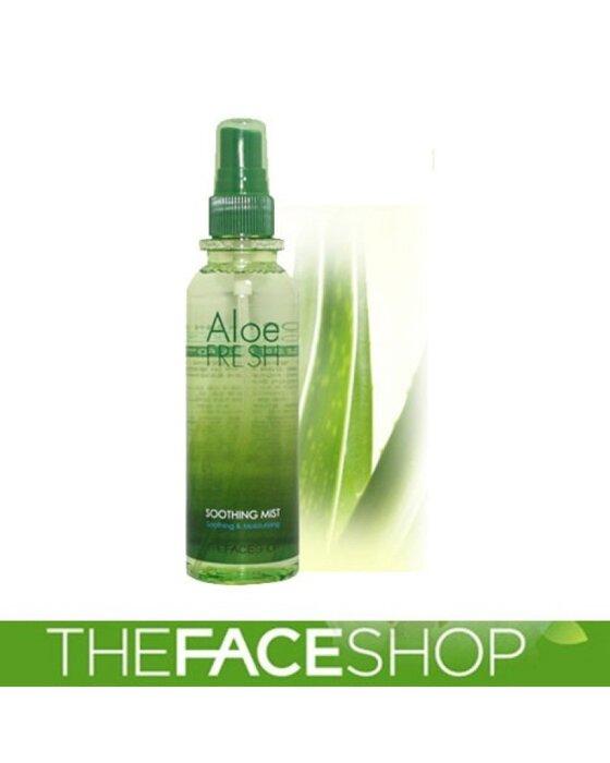 Review xịt khoáng lô hội The Face Shop Aloe Fresh Soothing Mist