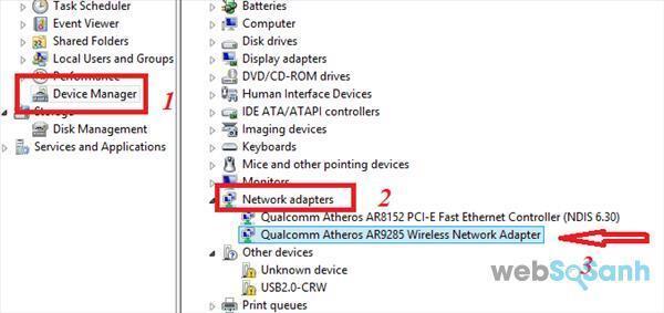 laptop không kết nối được wifi