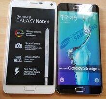 Rò rỉ hình ảnh mô hình Galaxy S6 Edge Plus đọ dáng bên Galaxy Note 4