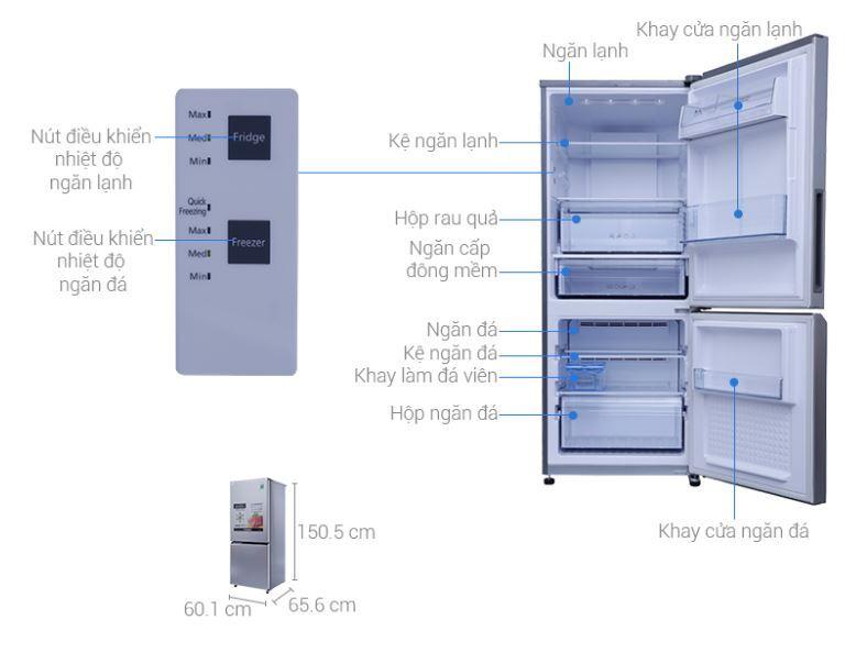 Đánh giá tủ lạnh panasonic 255 lít nr-bv289qsvn - Thiết kế sang, chạy êm, giá tốt
