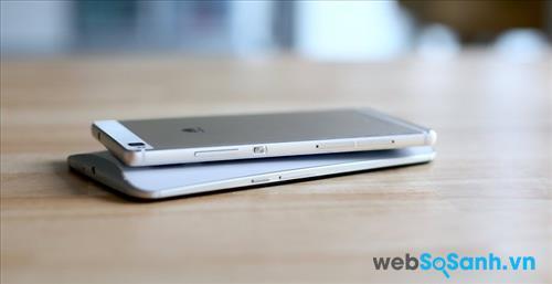 Thiết kế phẳng Huawei được so với Nexus 6 cong của Motorola