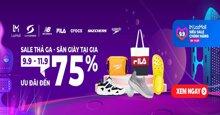 Sale thả ga - săn giày tại gia với ưu đãi đến 75% trên Lazada