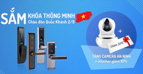 Sắm khóa thông minh tặng ngay Camera an ninh tại khoacuahune.com