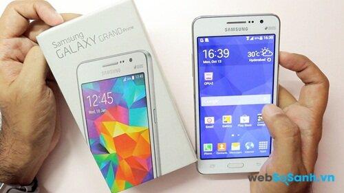 Samsung Galaxy Grand Prime mỏng nhưng mạnh mẽ