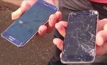 """Samsung Galaxy S6 edge và Apple iPhone 6 đọ độ bền khi """"rơi tự do"""""""