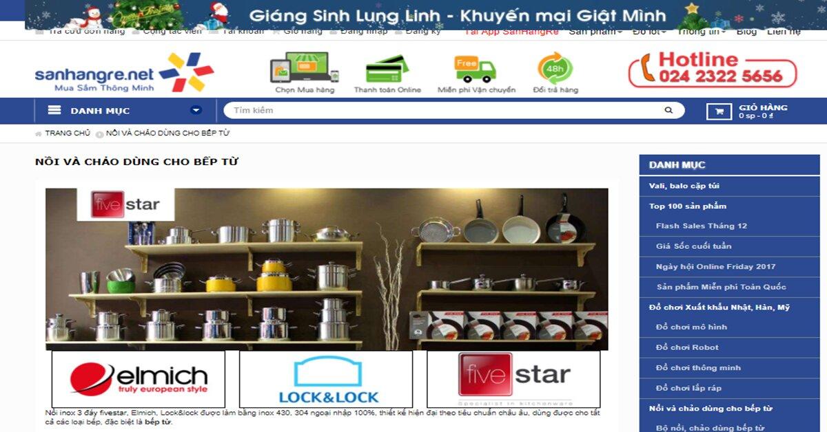 SanHangRe – Mua xoong nồi thương hiệu cao cấp an toàn cho sức khỏe khỏi lo về giá