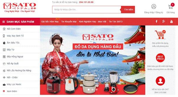 """SATO Việt Nhật – thế giới hàng gia dụng chất lượng Nhật Bản mức giá """"Việt Nam"""""""