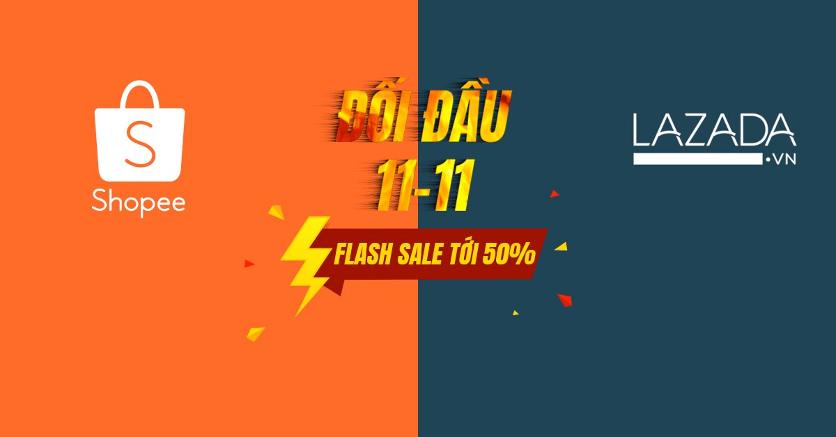 Shopee thách đấu Lazada với Flash Sale khởi động 11.11 – Sale chớp nhoáng quà phát hoảng