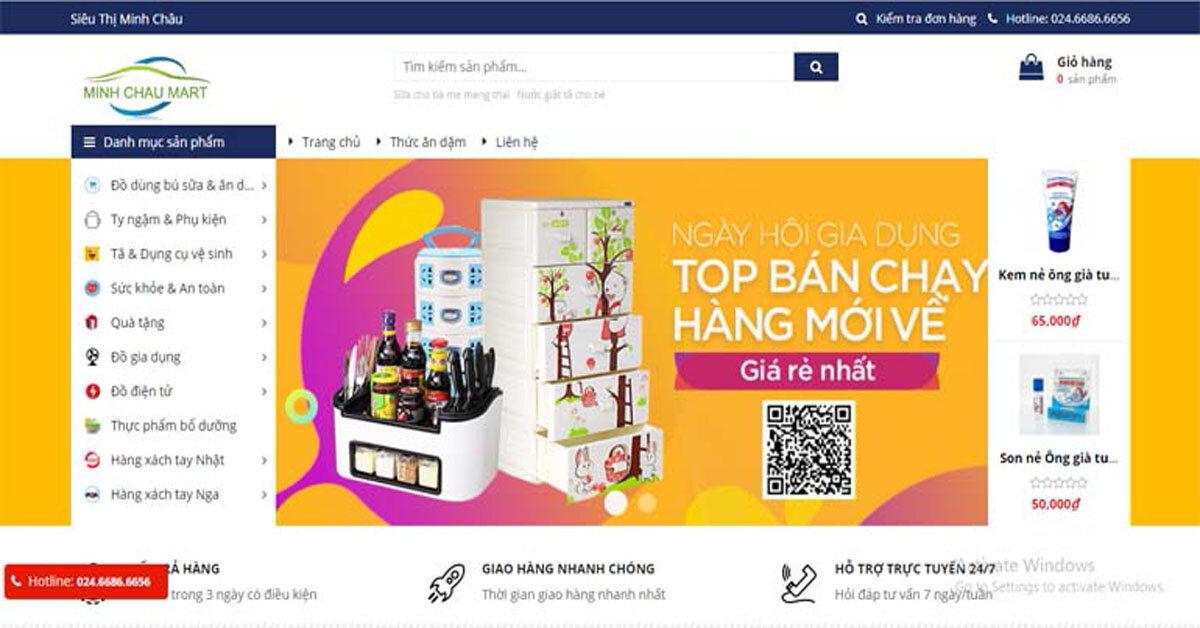 Sieuthiminhchau.vn – Chuyên cung cấp các sản phẩm của Việt Nam, Nga và các nước Châu Âu