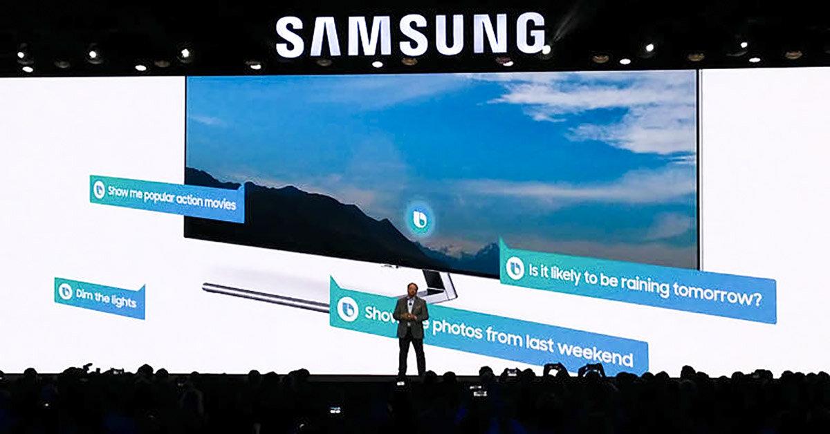 Smart tivi Samsung 2018 tích hợp trợ lý ảo Bixby như trên smartphone