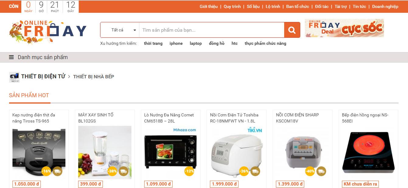 Hàng loạt thiết bị gia dụng giảm giá trong ngày Online Friday