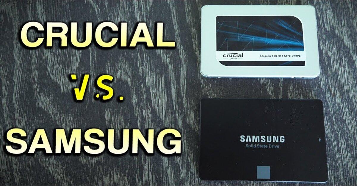 So sánh 2 ổ cứng SSD 250GB Samsung 850 EVO và CRUCIAL MX500