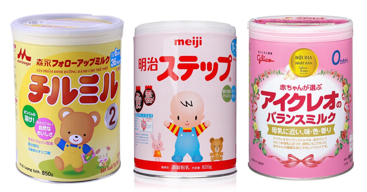 So sánh 3 loại sữa Nhật Meiji, Morigana, Glico loại nào tốt ?