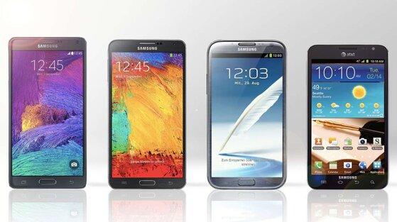 So sánh 4 phiên bản smartphone Galaxy Note: Galaxy Note 4, Galaxy Note 3, Galaxy Note II và Galaxy Note đầu tiên