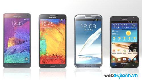 So sánh 4 siêu phẩm Galaxy Note tinh hoa của Samsung