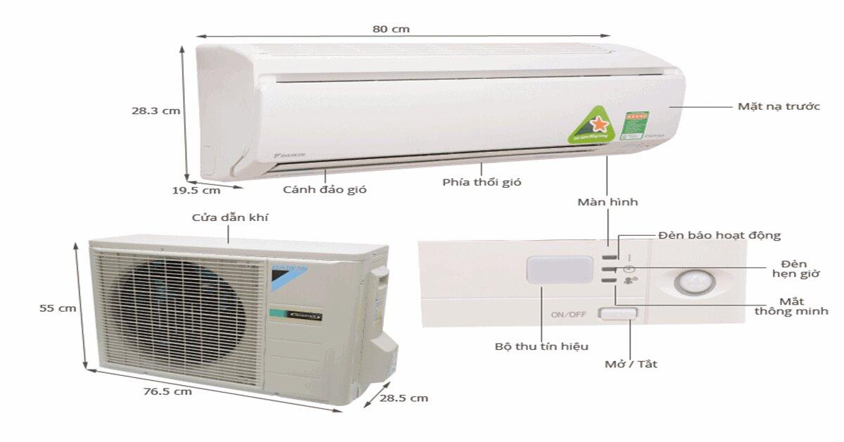 So sánh 5 máy điều hòa – máy lạnh đaikin 1 chiều 9000btu inverter