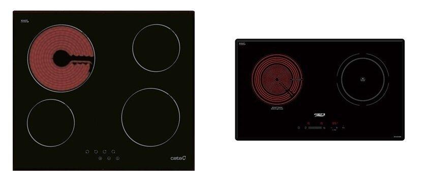 So sánh bếp điện từ Cata TC604FVI và bếp điện từ Chef's EHMIX366