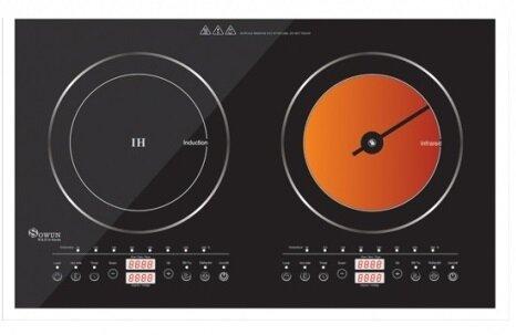 So sánh bếp điện từ đôi Midea C2-SH351 và bếp đôi Sowun SW-1211