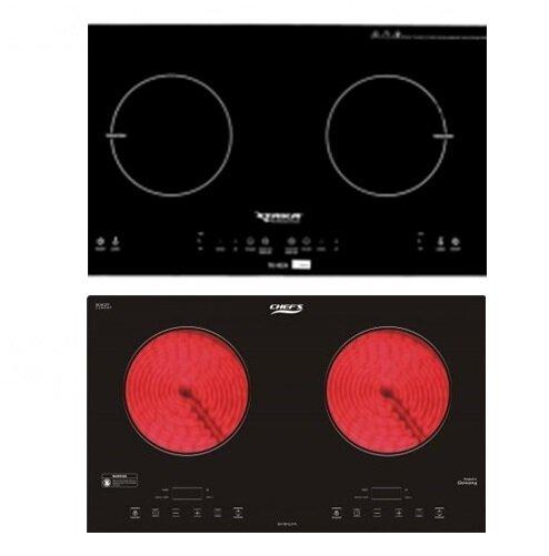 So sánh bếp điện từ đôi Taka TK-I02A và bếp đôi Chef's EHDHL31A