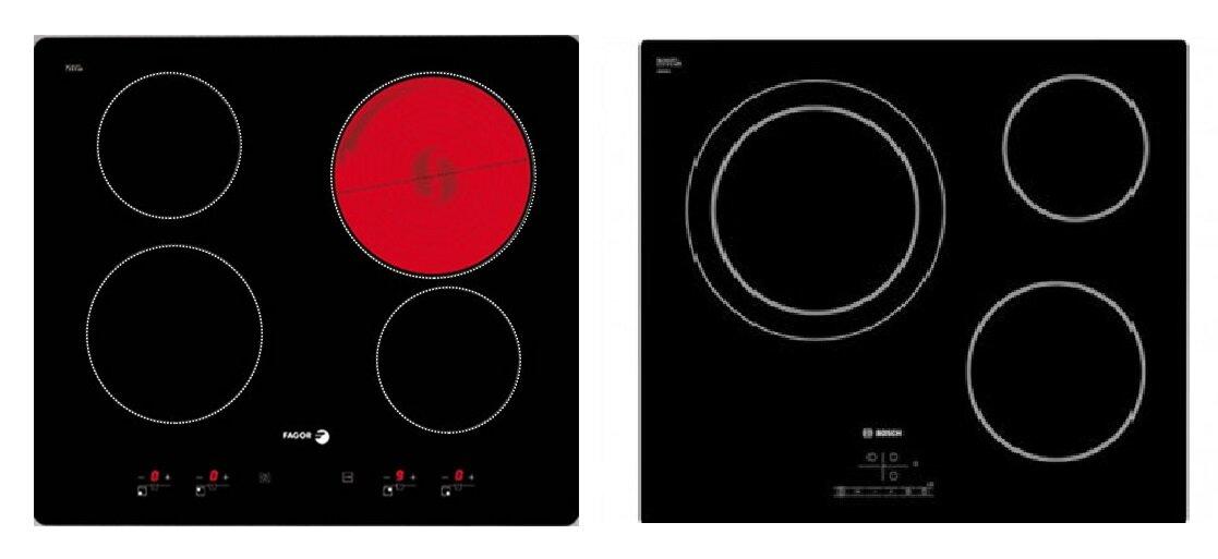 So sánh bếp điện từ Fagor 2VFT-400AX và bếp điện từ Bosch PKK611B17E