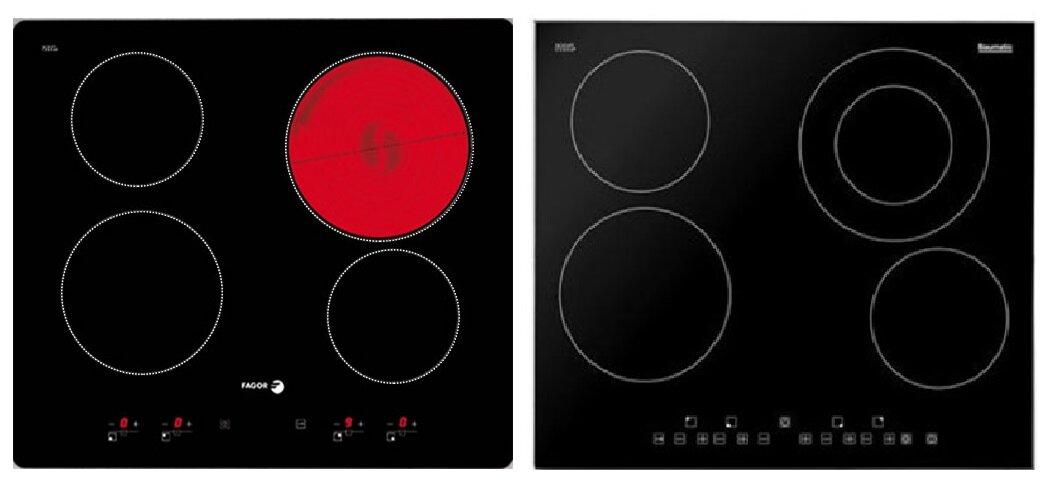 So sánh bếp điện từ Fagor 2VFT-400AX và bếp điện từ Baumatic BHC606SS