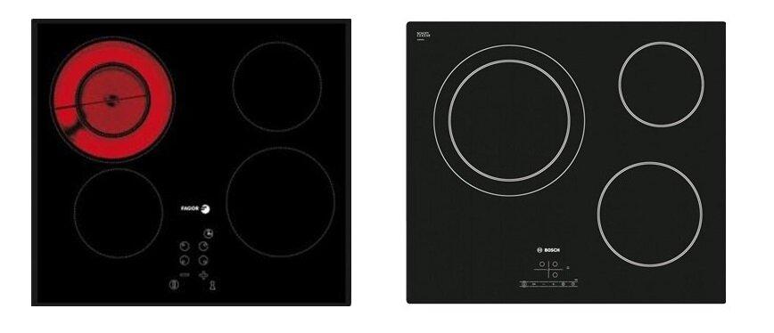 So sánh bếp điện từ Fagor 2VFT320S và bếp điện từ Bosch PKK611B17E
