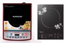 So sánh bếp điện từ giá rẻ Sunhouse SHD6180 và bếp điện từ Midea MI-SV21DM