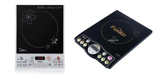 So sánh bếp điện từ Midea MISV21DN và bếp điện từ Fusibo IHMS2056C