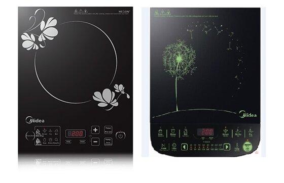 So sánh bếp điện từ Midea MI-SV21DM và bếp điện từ Midea MI-SV21DU