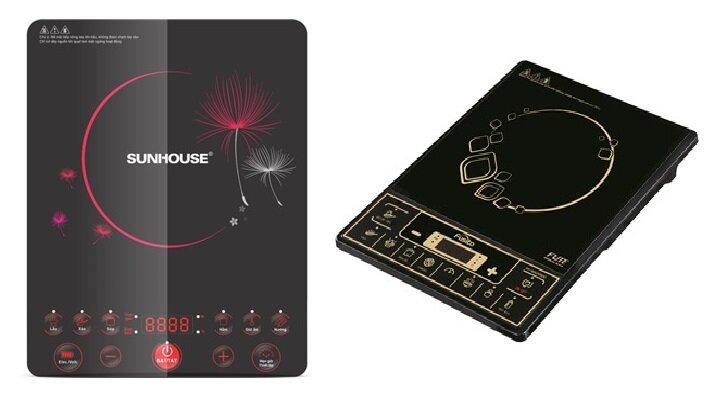So sánh bếp điện từ Sunhouse SHD6152 và bếp điện từ Fusibo IH-MS2058C