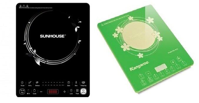 So sánh bếp điện từ Sunhouse SHD6861 và bếp điện từ Kangaroo KG461i
