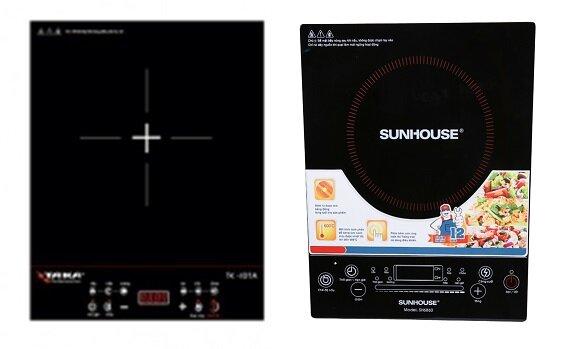 So sánh bếp điện từ Taka TK-I01A và bếp điện từ Sunhouse SHD6860